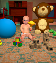 Scary Baby In Yellow 3D : Horror Granny Baby apk